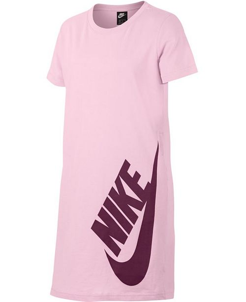 327316119b5b Nike Big Girls Sportswear Cotton T-Shirt Dress   Reviews - Dresses ...