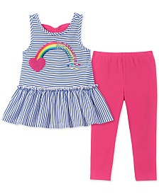 Kids Headquarters Baby Girls 2-Pc. Bow-Back Tunic & Leggings Set