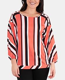 Striped Drop-Shoulder Top