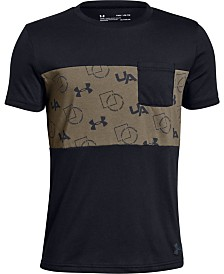 Under Armour Big Boys Sportstyle-Print Pocket T-Shirt