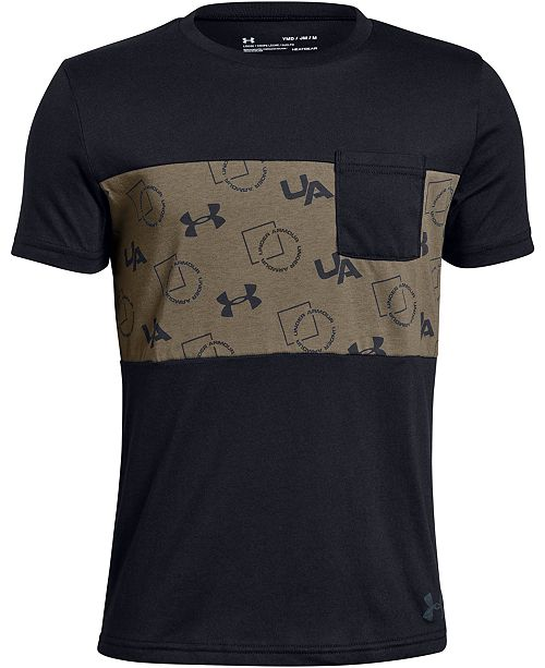 Under Armour Big Boys Sportstyle-Print Pocket T-Shirt