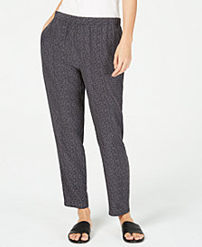 Eileen Fisher Printed Slouchy Ankle Pants, Regular & Petite