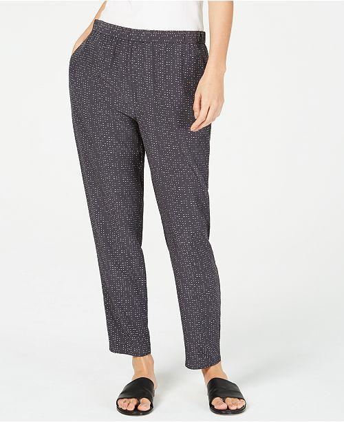 Eileen Fisher Tencel® Printed Slouchy Ankle Pants, Regular & Petite