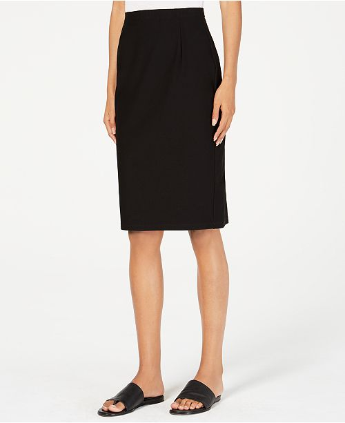 Eileen Fisher Knit Washable Crepe Pencil Skirt, Regular & Petite