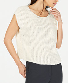 Eileen Fisher Cropped Textured Sweater