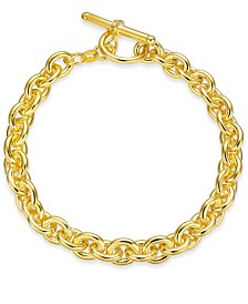 Giani Bernini Wide Rolo Link Toggle Bracelet in 18k Gold-Plated Sterling Silver, Created for Macy's