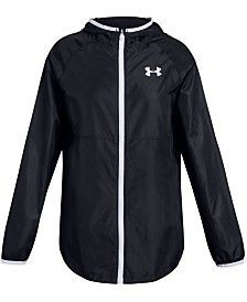 Under Armour Big Girls Hooded Windwear Jacket