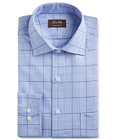 e9f314951b5e Tasso Elba Men's Classic/Regular Fit Non-Iron Supima Cotton Glen Plaid  Dress Shirt