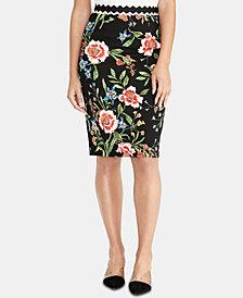 RACHEL Rachel Roy Floral-Print Pencil Skirt