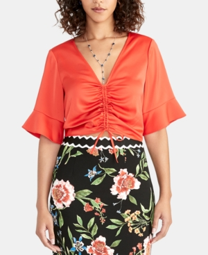 Rachel Rachel Roy  STACEY RUCHED-FRONT TOP, CREATED FOR MACY'S