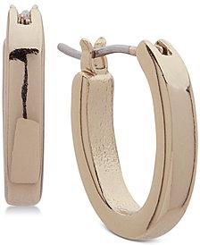 Lauren Ralph Lauren Gold-Tone Small Oval Hoop Earrings