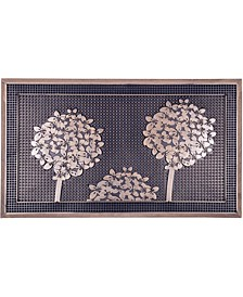 """Doormat Trees Gold Painted 18"""" x 30"""", Rubber, Durable"""
