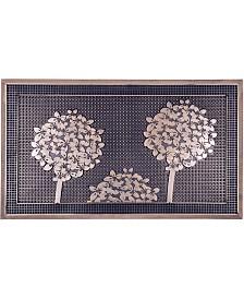 "Fab Habitat Doormat Trees Gold Painted 18"" x 30"", Rubber, Durable"
