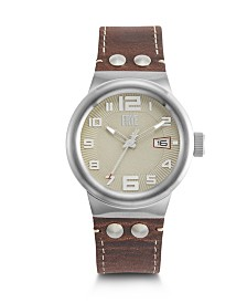 Frye Mens' Harness Saddle Leather Strap Watch