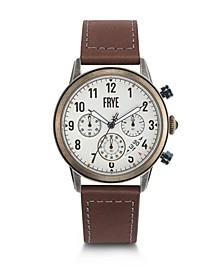 Mens' Graham Chronograph Cognac Leather Strap Watch