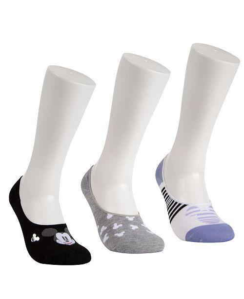 Disney 3-Pk. Mickey Mouse Iconic Liner Socks