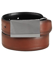 Alfani Men's Reversible Plaque Dress Belt, Created for Macy's