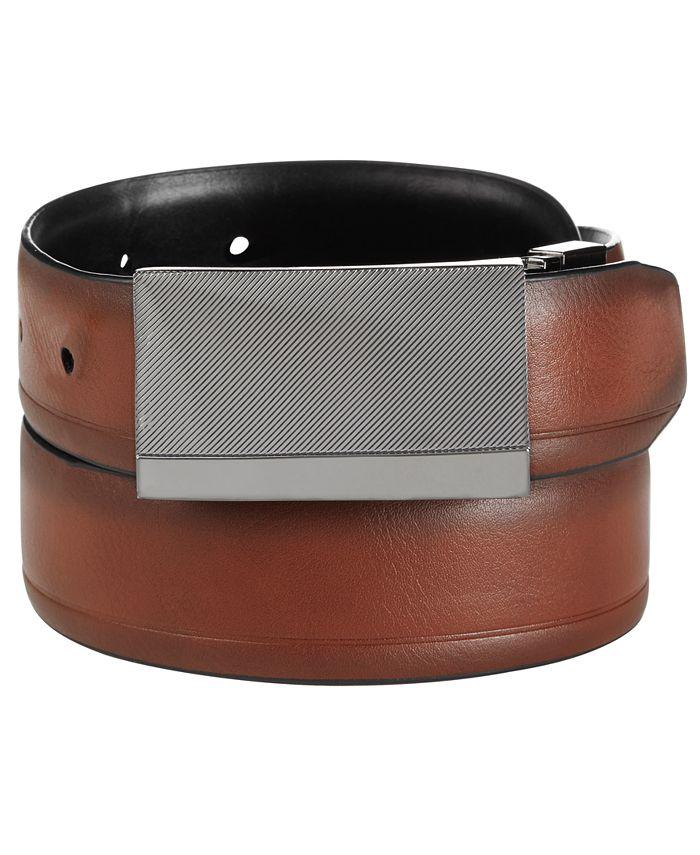 Alfani - Men's Reversible Plaque Dress Belt