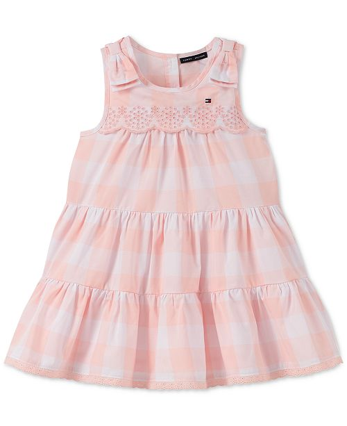 Tommy Hilfiger Baby Girls Gingham-Print Cotton Dress