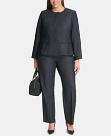 Calvin Klein Plus Size Denim Jacket & Modern Pants