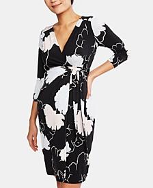 Maternity Printed Wrap Dress