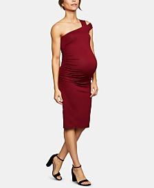 Isabella Oliver Maternity Cold-Shoulder Sheath Dress