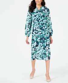 Maison Jules Printed Midi Dress, Created for Macy's