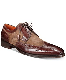 Men's Leather & Suede Lace-Up Oxfords