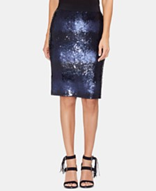 Vince Camuto Sequined Ombré Pencil Skirt