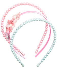 On the Verge Little & Big Girls 3-Pk. Pearly Headbands
