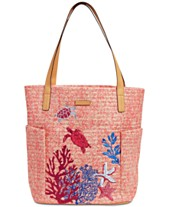 b7ca652c7caa Vera Bradley North South Straw Beach Tote