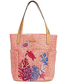 Vera Bradley North South Straw Beach Tote