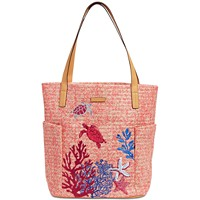 Deals on Vera Bradley North South Straw Beach Tote