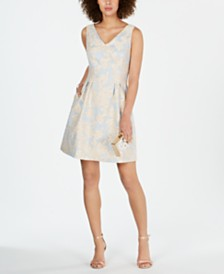 Donna Ricco Floral-Printed Fit & Flare Dress