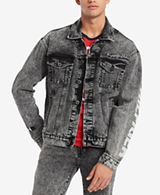 Tommy Hilfiger Denim Men's Acid Washed Denim Jacket, Created for Macy's