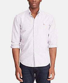 Polo Ralph Lauren Men's Classic Fit Striped Cotton Shirt
