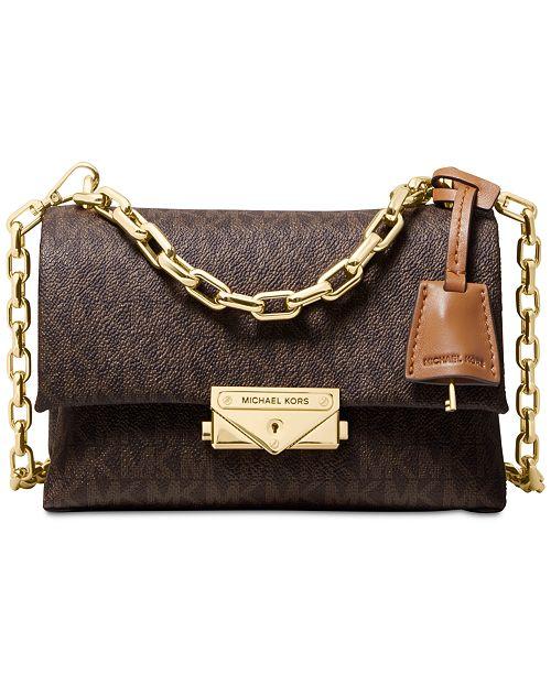 1527df0ccb97d1 Michael Kors Cece Signature Chain Crossbody & Reviews - Handbags ...