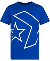 d5ca0fdbacbf Converse Boys Outlined Star Chevron Logo T-Shirt