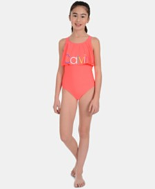 Calvin Klein Big Girls 1-Pc. Flounce Swimsuit