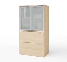 i3 Plus Lateral File with Storage Cabinet