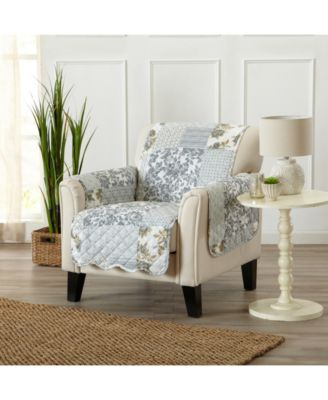Patchwork Scalloped Printed Reversible Chair Furniture Protector
