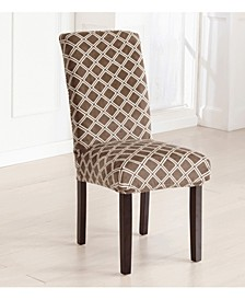 2-Pack Velvet Plush Printed Dining Room Chair Cover