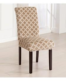 4-Pack Velvet Plush Printed Dining Room Chair Cover