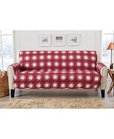 Plaid Printed Reversible Sofa Furniture Protector