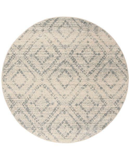 Safavieh Adirondack Ivory and Light Blue 8' x 8' Round Area Rug