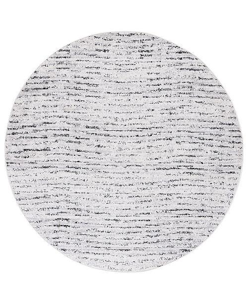 Safavieh Adirondack Ivory and Silver 4' x 4' Round Area Rug