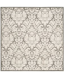 Safavieh Amherst Dark Gray and Beige 9' x 9' Square Area Rug