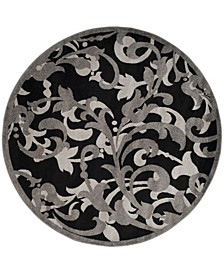 Amherst Anthracite and Light Gray 9' x 9' Round Area Rug