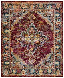 Crystal Ruby and Navy 9' x 12' Area Rug