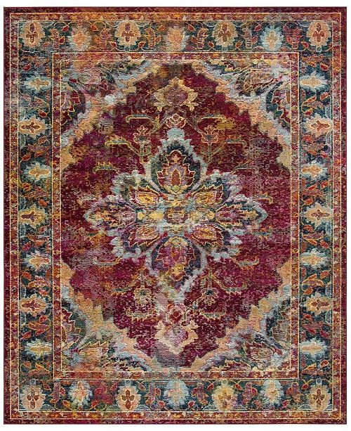 Safavieh Crystal Ruby and Navy 9' x 12' Area Rug